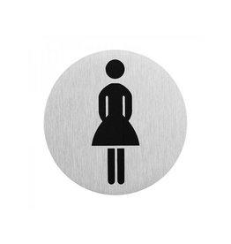 "Aluminium deurbordje "" pictogram dames WC "" ?75mm"