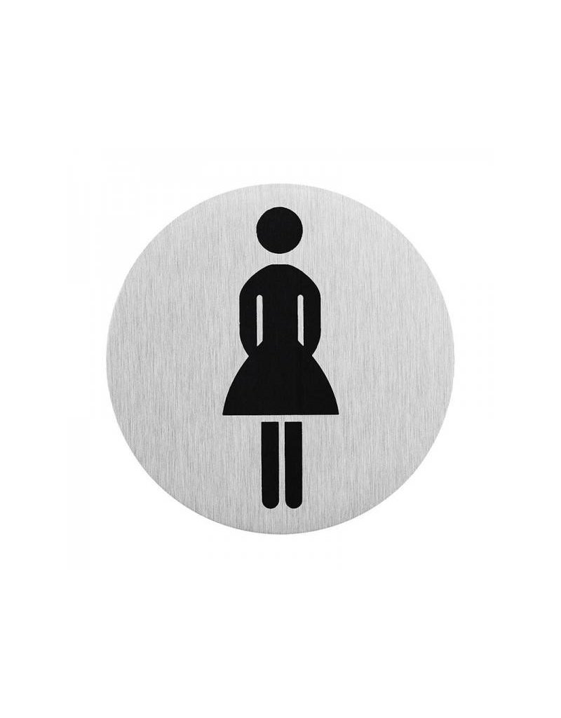 "Proplus Aluminium deurbordje "" pictogram dames WC "" ?75mm"