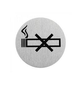 """Proplus Aluminium deurbordje """" pictogram roken verboden """" ?75mm"""