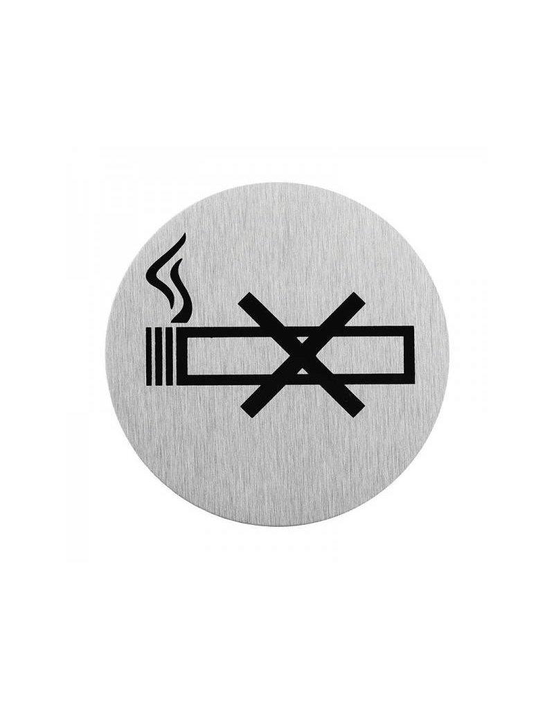 """Aluminium deurbordje """" pictogram roken verboden """" ?75mm"""