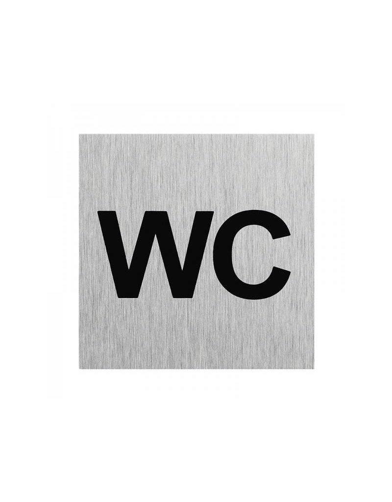 "Proplus Aluminium deurbordje "" WC "" 60x60mm"