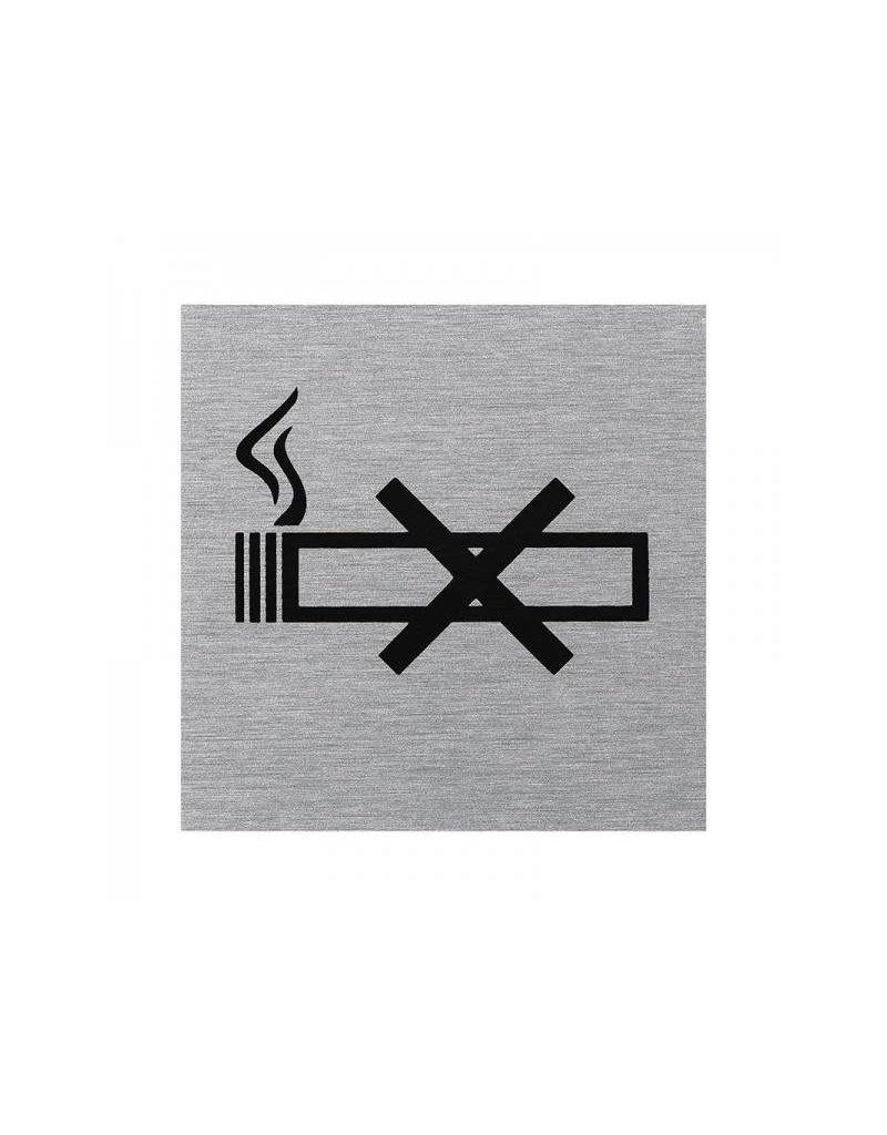 "Aluminium deurbordje "" pictogram roken verboden "" 60x60mm"