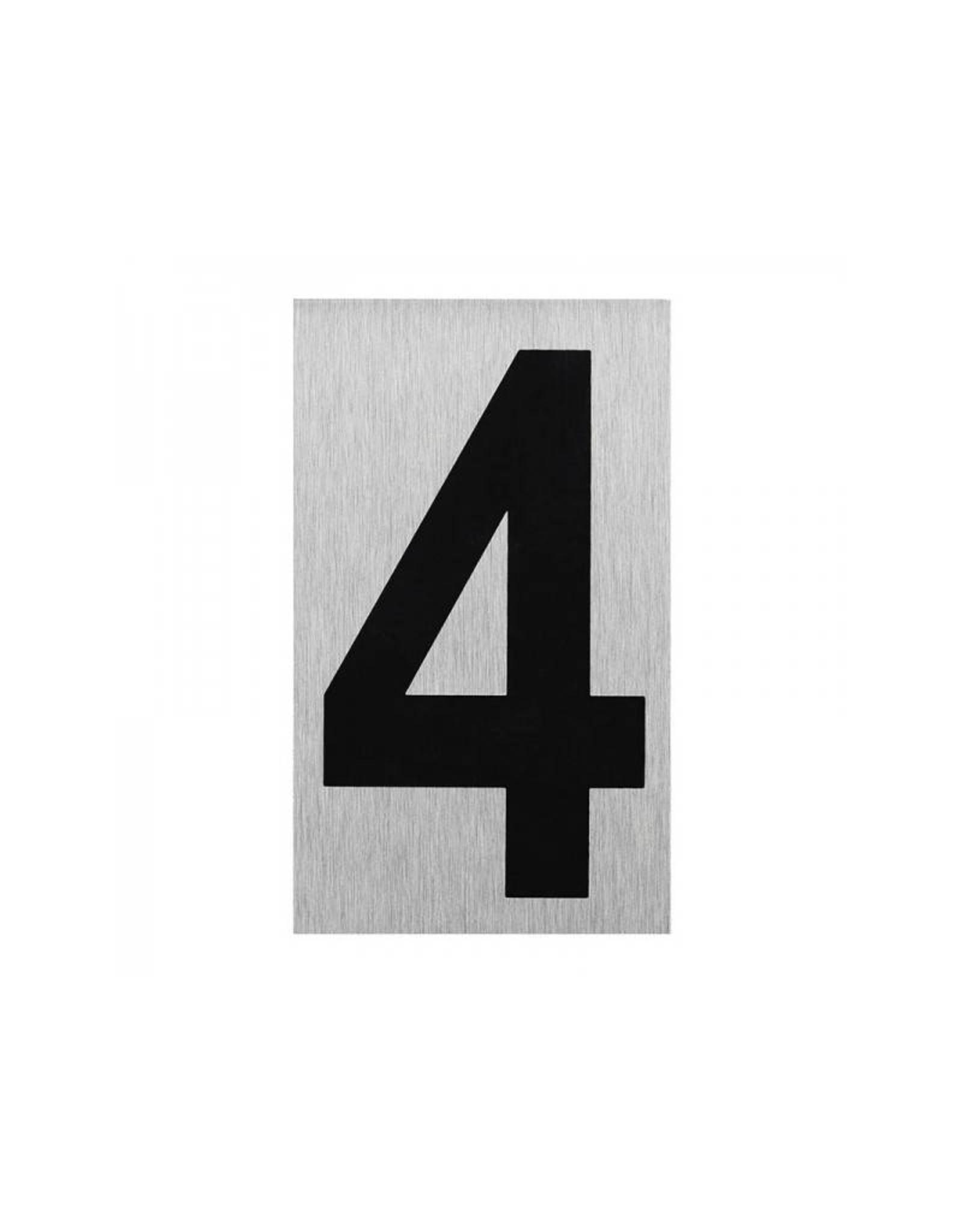 """Aluminium deurbordje """" 4 """" 100x60mm"""