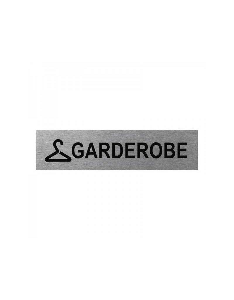 """Aluminium deurbordje """" Garderobe """" 160x40mm"""