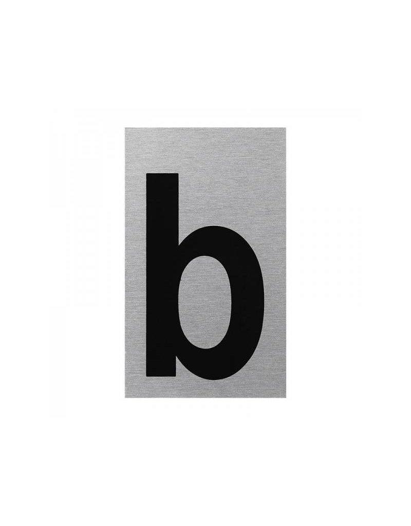 """Proplus Aluminium deurbordje """" b """" 100x60mm"""