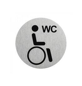 """Aluminium deurbordje """" pictogram gehandicapten toilet """" ?75mm"""