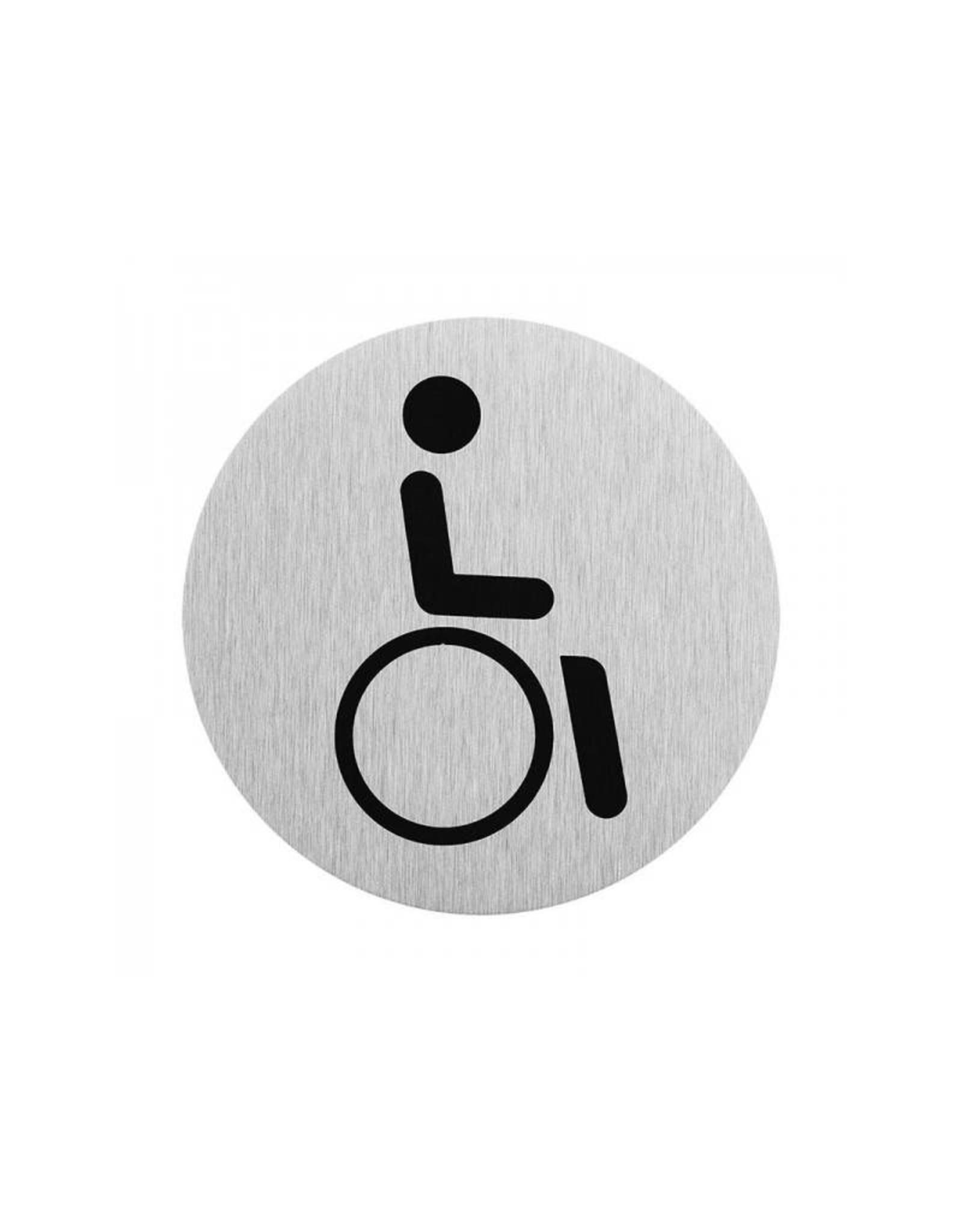 """Aluminium deurbordje """" pictogram rolstoel bestuurder """" ?75mm"""