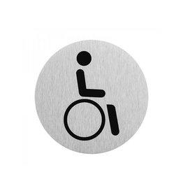 """Proplus Aluminium deurbordje """" pictogram rolstoel bestuurder """" ?75mm"""