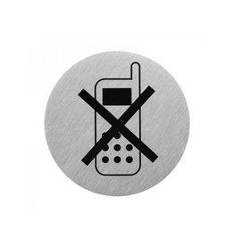 Aluminium pictogram telefoon uit