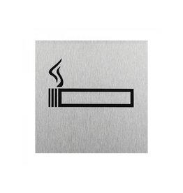 """Proplus Aluminium deurbordje """" pictogram roken toegestaan """" 120x120mm"""