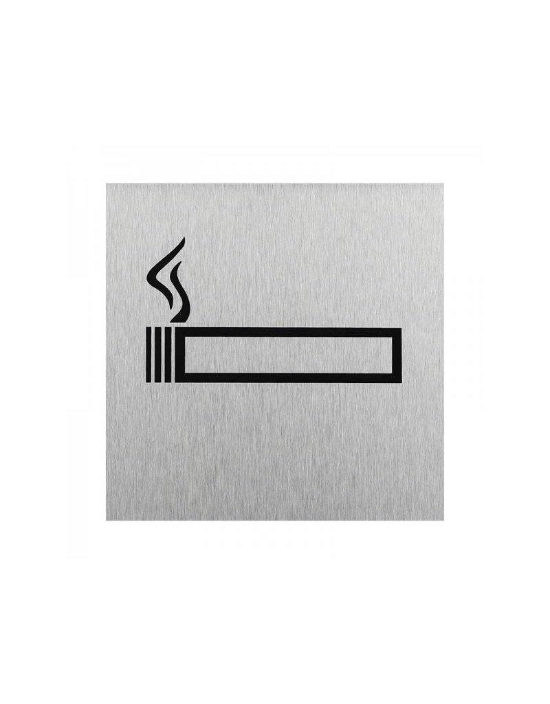"""Aluminium deurbordje """" pictogram roken toegestaan """" 120x120mm"""