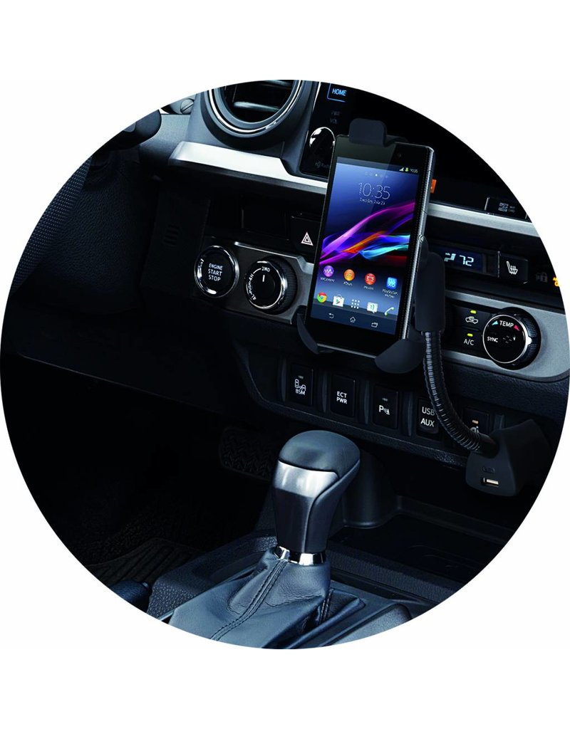 Auto GSM-houder universeel met flexibele zwanenhals