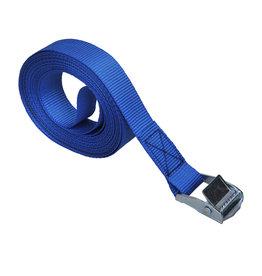 Spanband blauw met snelsluiting 5 meter