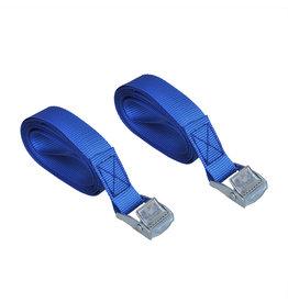 Spanband blauw met snelsluiting 2x2,5 meter