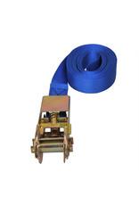 Spanband blauw met ratel 5 meter