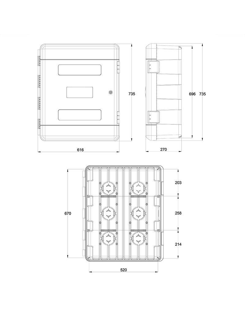 Gereedschapskast 75,0L  met 2 planken + cilinderslot