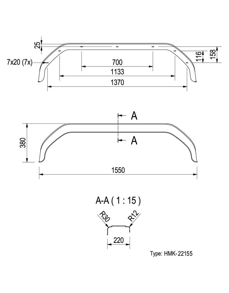 Proplus Spatscherm kunststof tandemas 13/14 inch (22155)