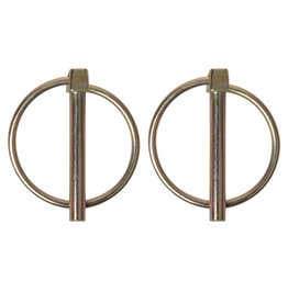 Borgpen 6mm met ring 2x