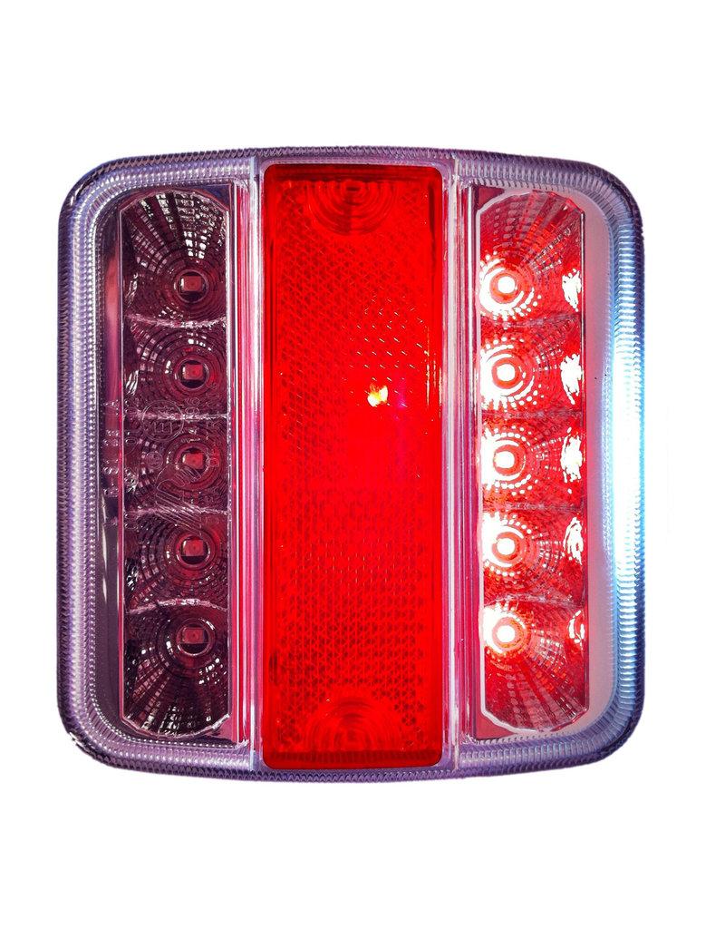 Achterlicht 4 functies 98x105mm 14LED met 5-pin EC
