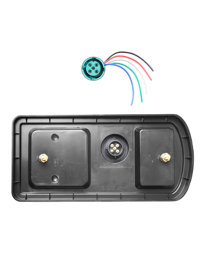 Achterlicht 5 functies 225x105mm 43LED rechts