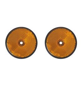 Reflector oranje 60mm schroefbevestiging 2x