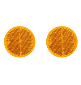 Reflector oranje 60mm zelfklevend 2x