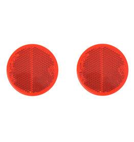Reflector rood 60mm zelfklevend 2x