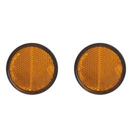 Proplus Reflector oranje 58mm zelfklevend met grondplaat 2x