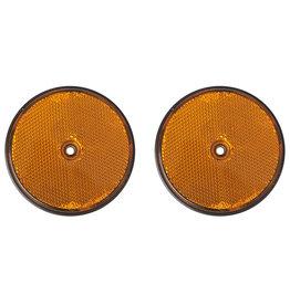 Proplus Reflector oranje 80mm schroefbevestiging 2x