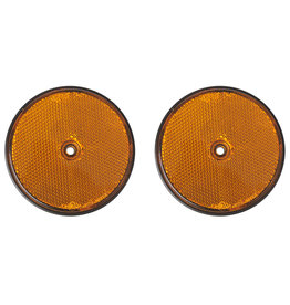 Reflector oranje 80mm schroefbevestiging 2x