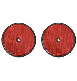 Reflector rood 80mm schroefbevestiging 2x