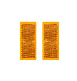 Reflector oranje 82x36mm zelfklevend 2x
