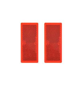 Reflector rood 82x36mmzelfklevend 2x