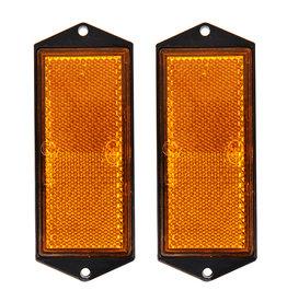 Reflector oranje 104x40mm schroefbevestiging 2x