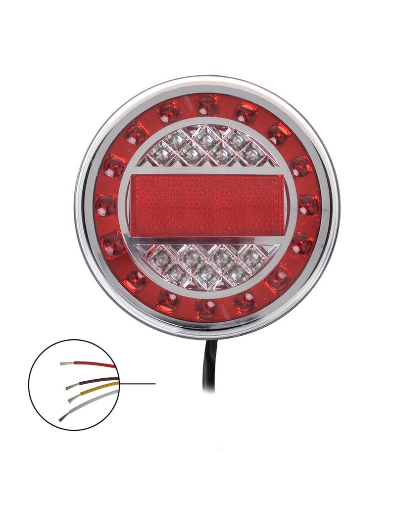 Achterlicht 12/24V 4 functies 125mm LED