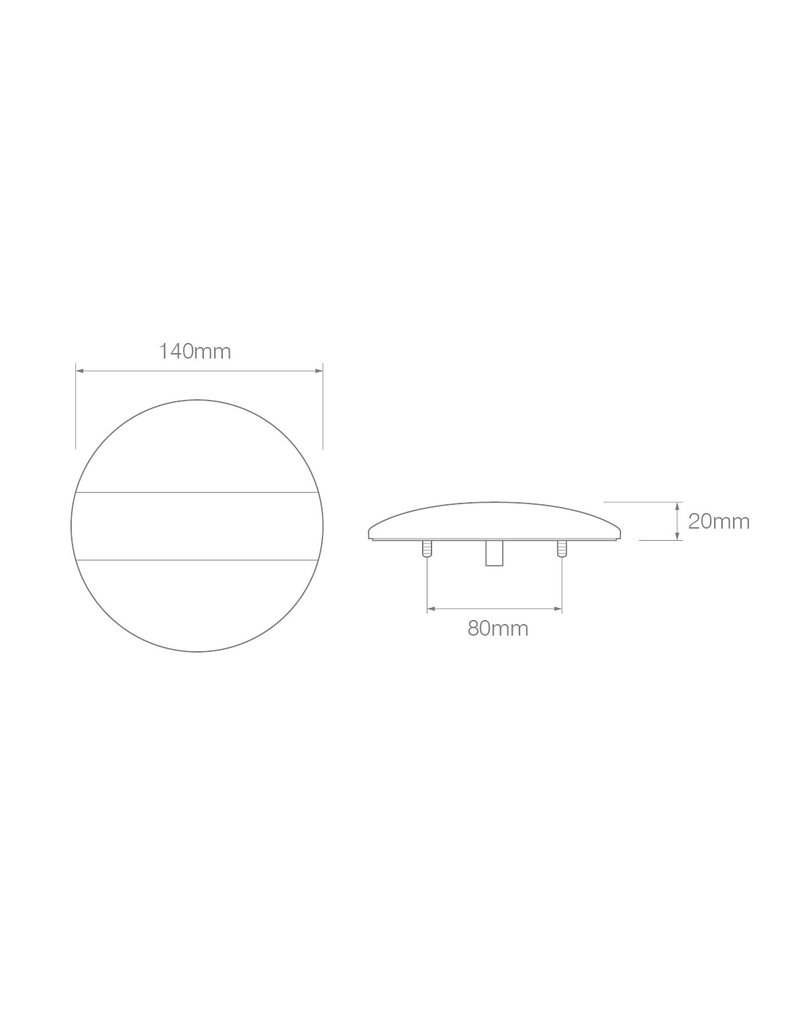 Proplus Achterlicht 12/24V 3 functies 140mm STF LED