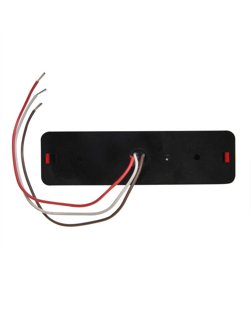 Proplus Achterlicht 12/24V 2 functies 135x38mm LED met houder zwart