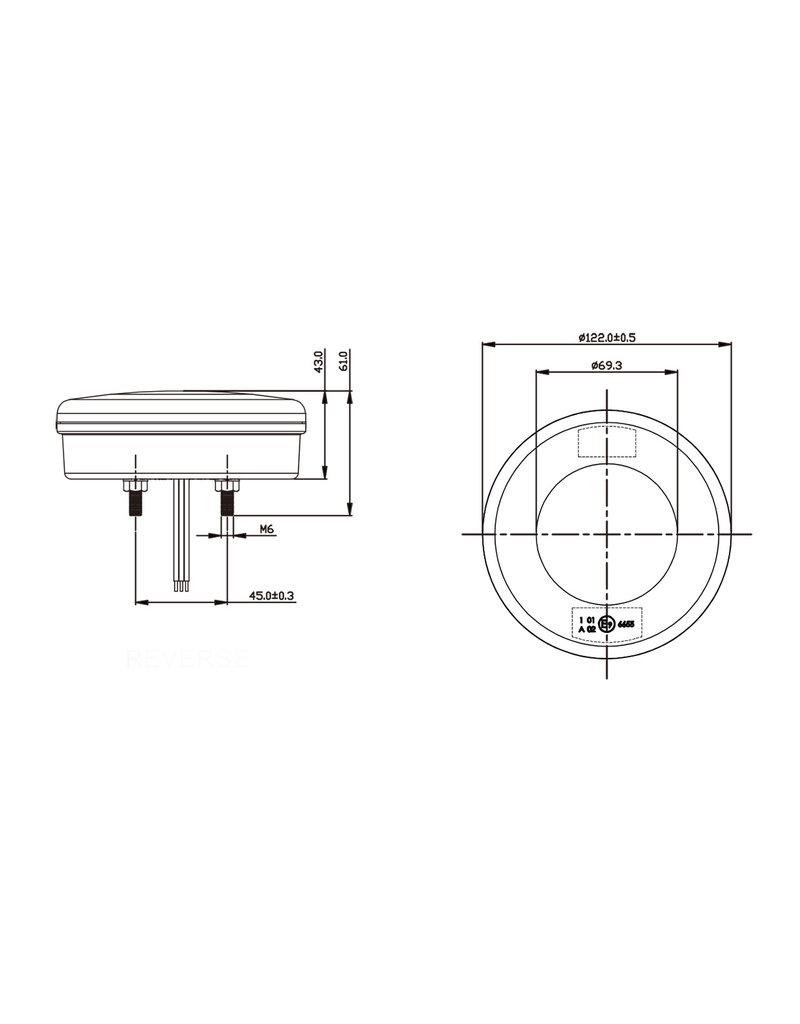 Proplus Achterlicht 3 functies 122mm 24LED