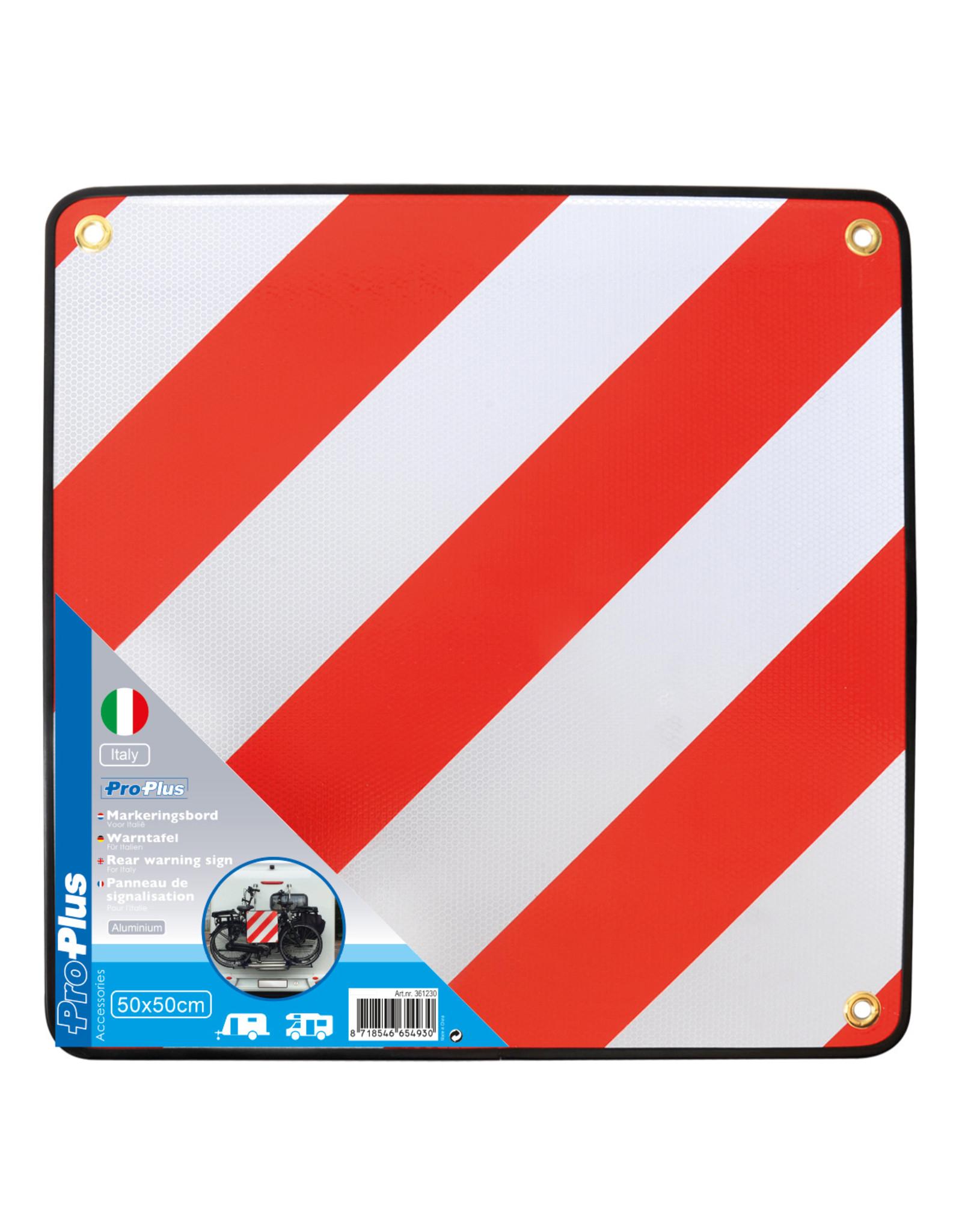Markeringsbord aluminium 50x50cm voor Itali?