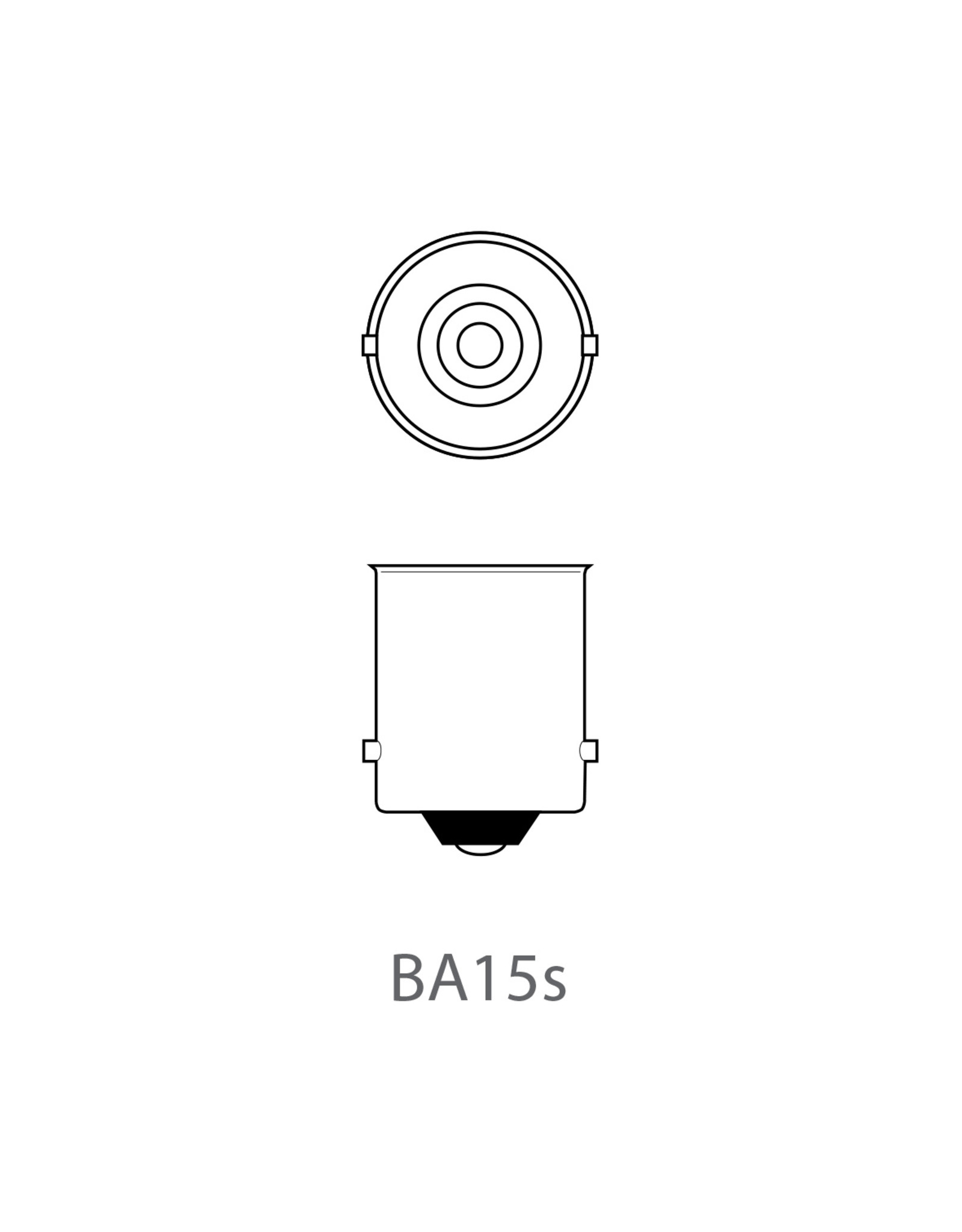 Autolamp 12V 5W BA15s 2x