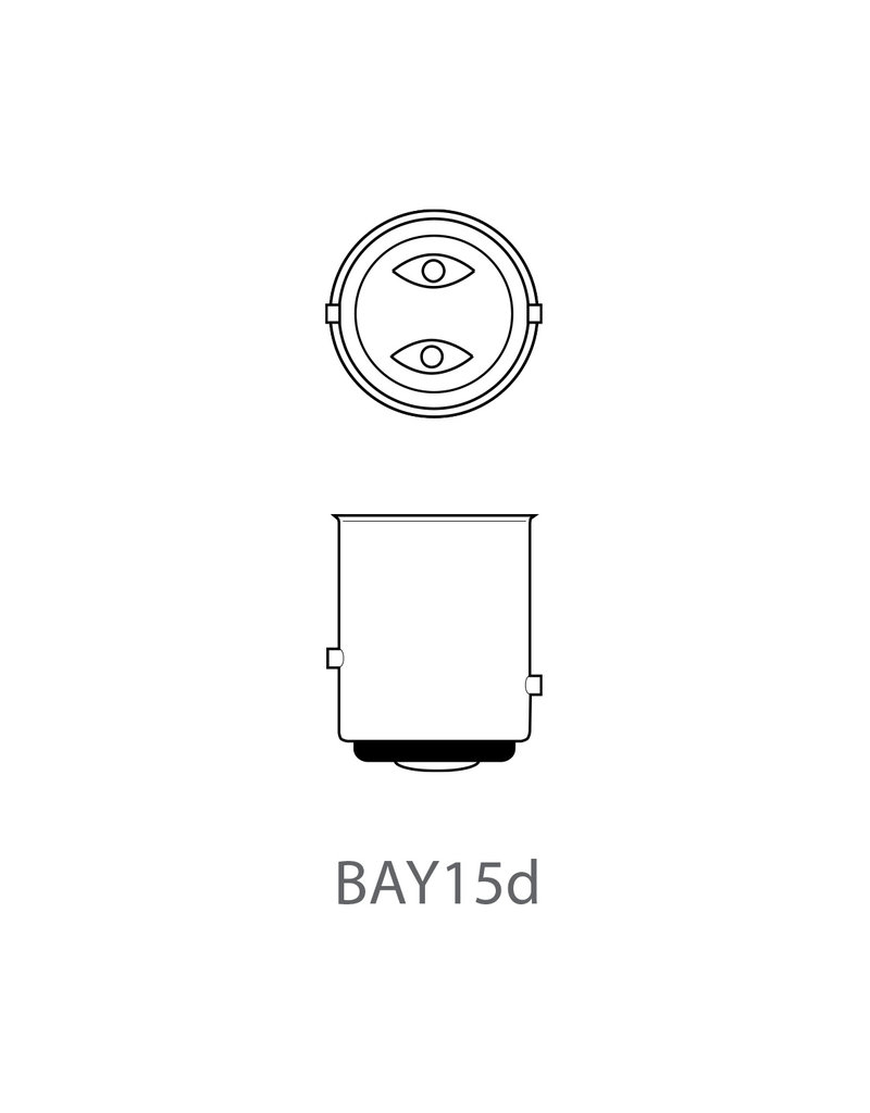 Proplus Autolamp 12V 21/5W BAY15d 2x