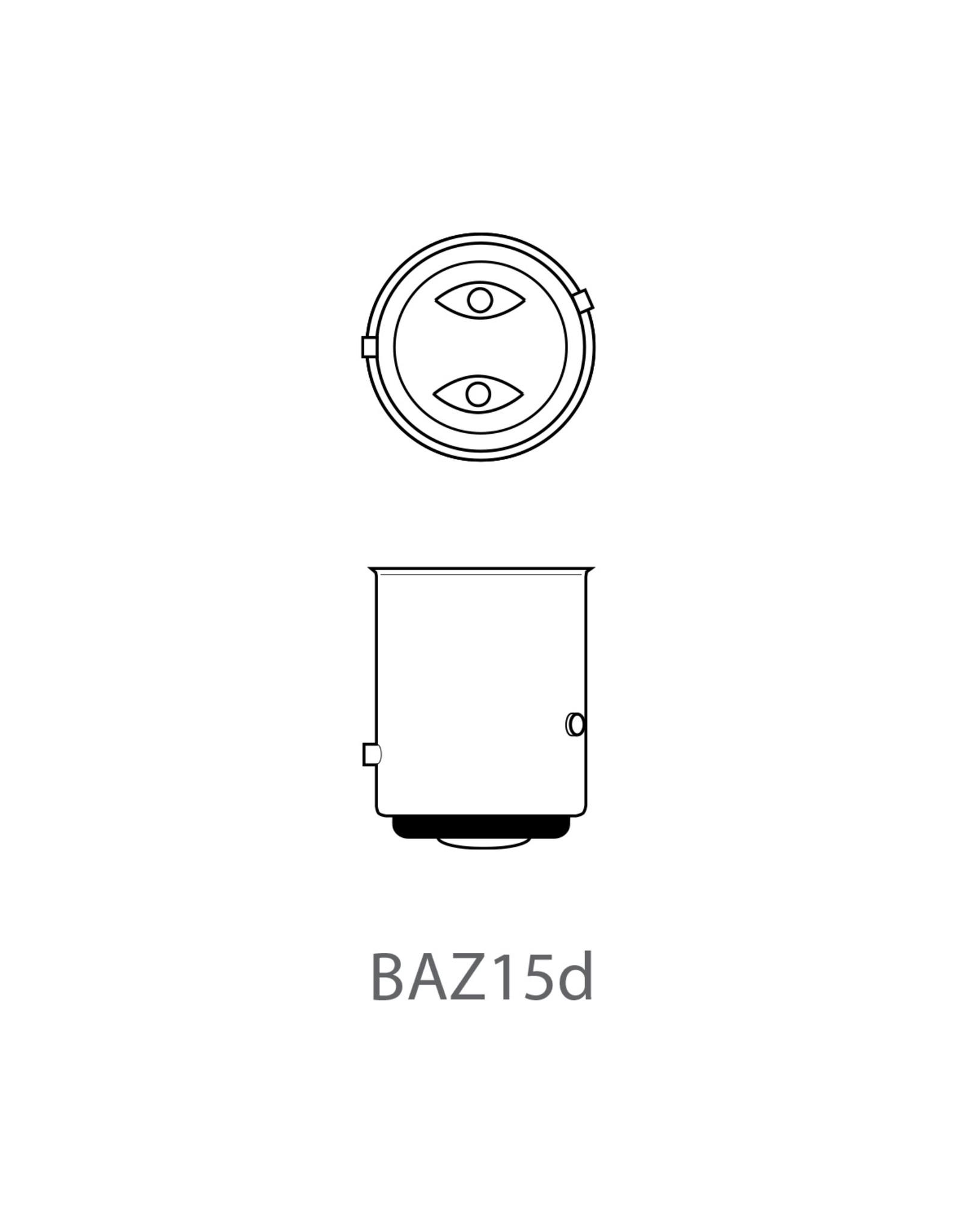 Autolamp 12V 21/4W BAZ15d 2x