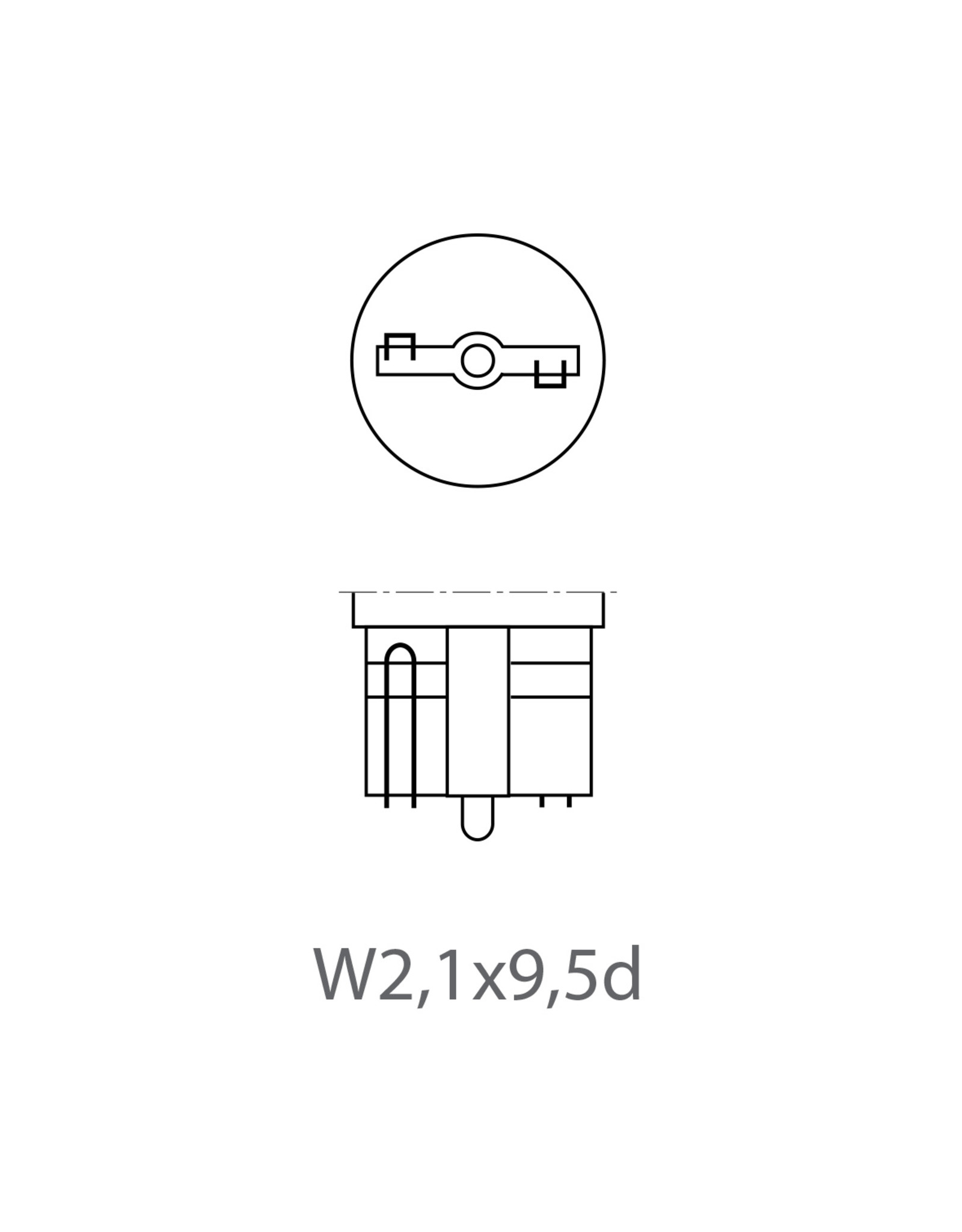 Autolamp 12V 5W T10 W2,1x9,5d 2x