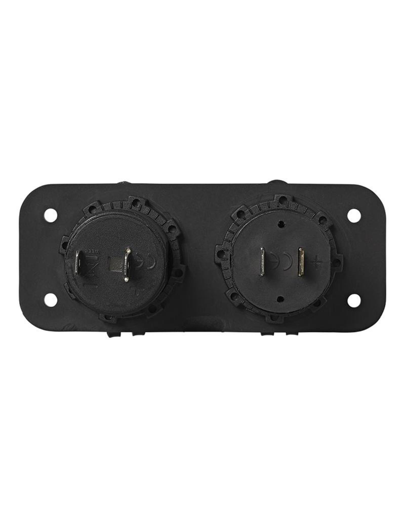 Inbouw kit: stekkerdoos DIN + USB poort dubbel 2x2100mA