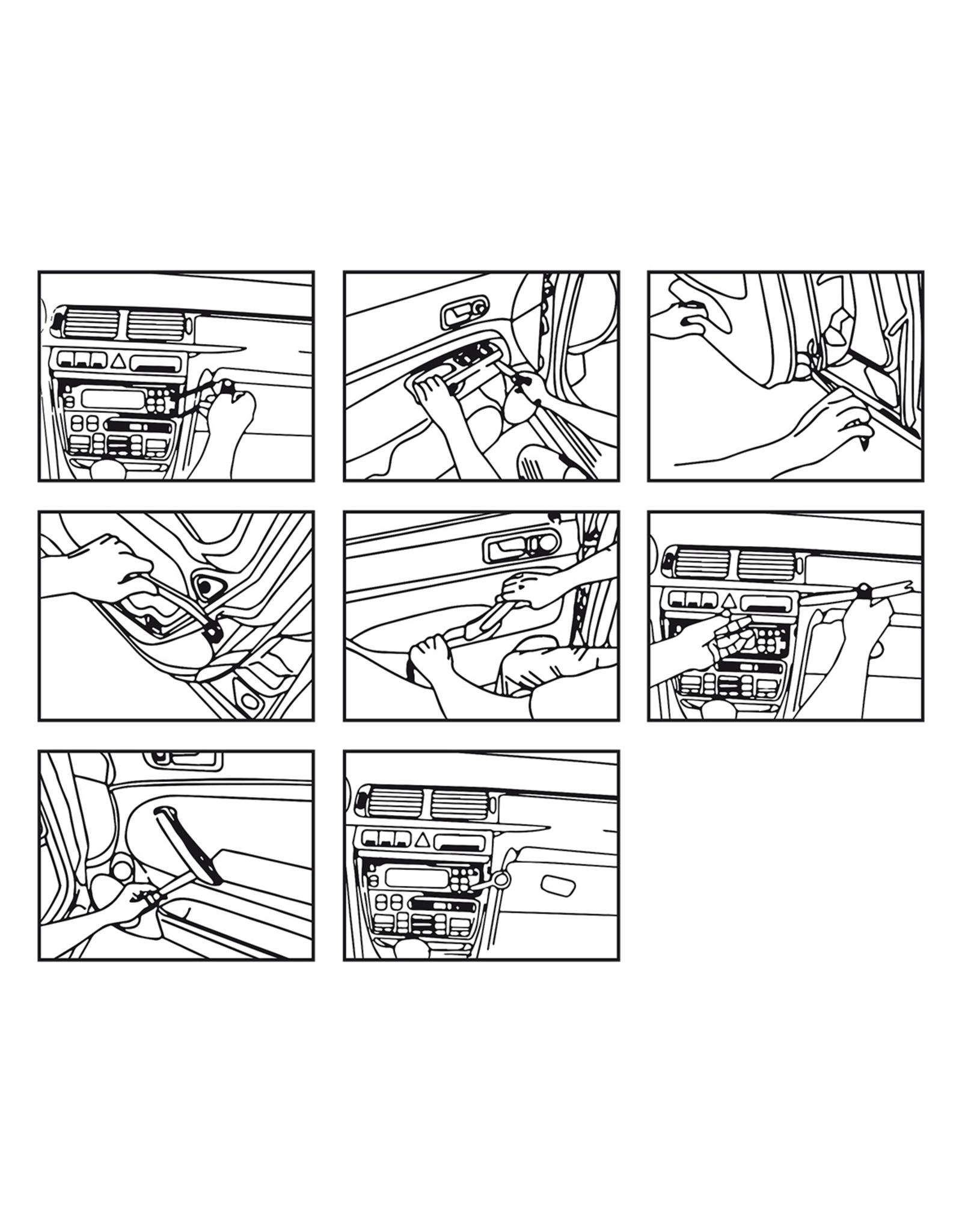 Autoradio verwijderringsset 12-delig