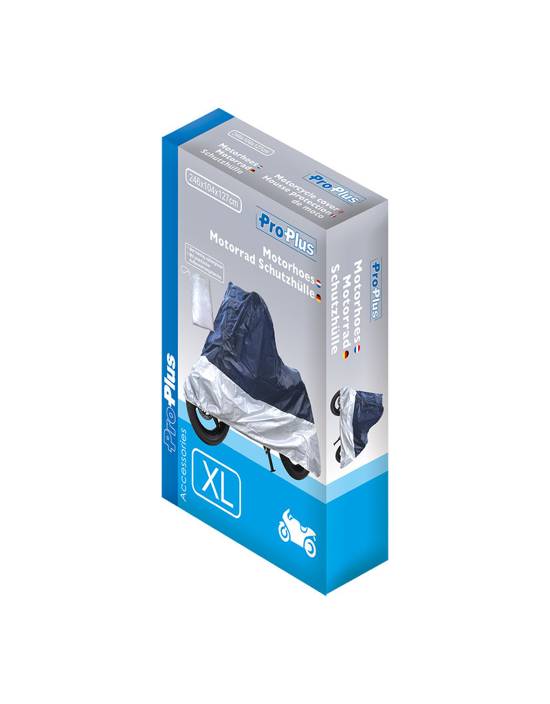 Proplus Motorhoes XL blauw/zilver