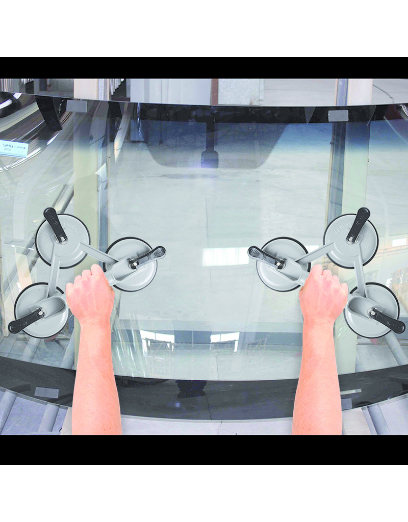 Proplus Vacuümheffer aluminium met 3 zuignappen