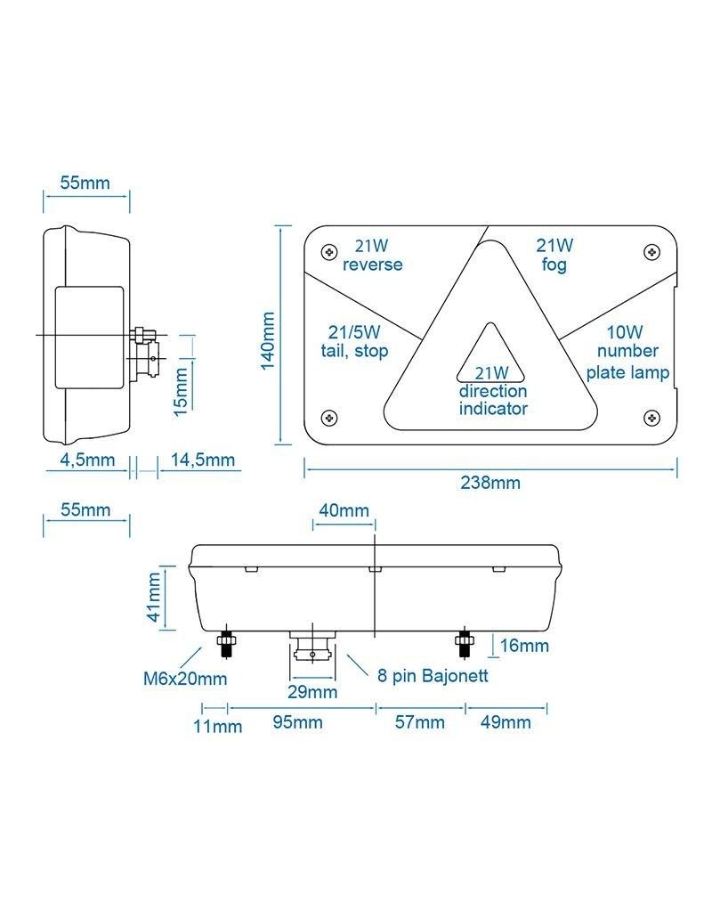 Proplus Aspöck Multipoint V achterlicht rechts