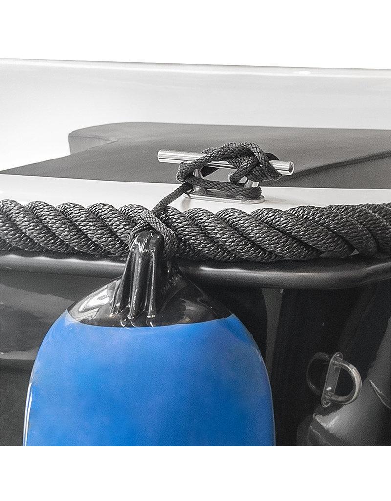 Fenderlijn 1,5m, birotex, zwart
