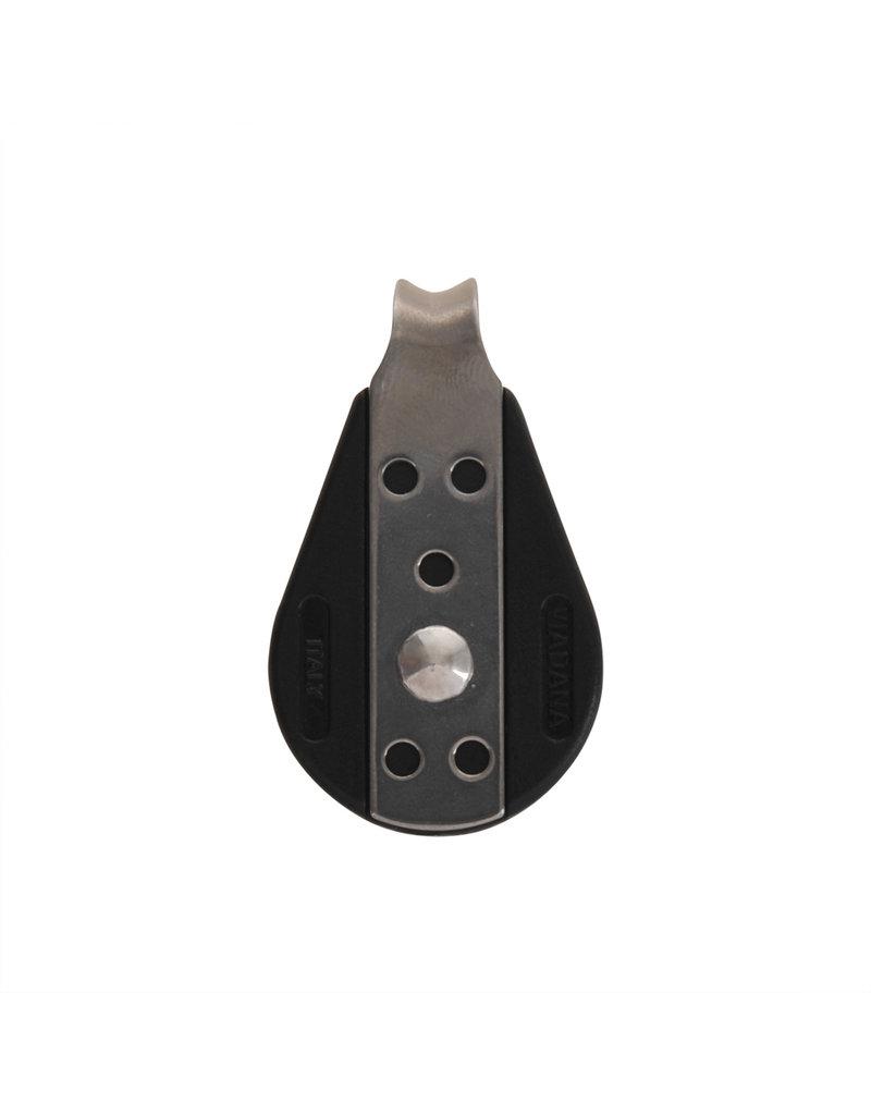 1 schijfs mini blok voor 8mm koord, gesloten met kogellager, 750 daN